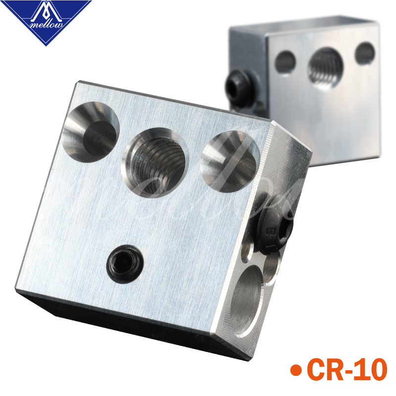 Mellow High Quality Cr10 Heated Block For Micro Swiss Cr10 Hotend Creality Ender 3 Mk7/Mk8/Mk9 Block J-head Hotend Head Extruder