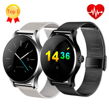 [ Spain Mall ] K88H Bluetooth Smart Watch Classic Health Metal Smartwatch with Heart Rate Monitor for Android ISO Phone Clock