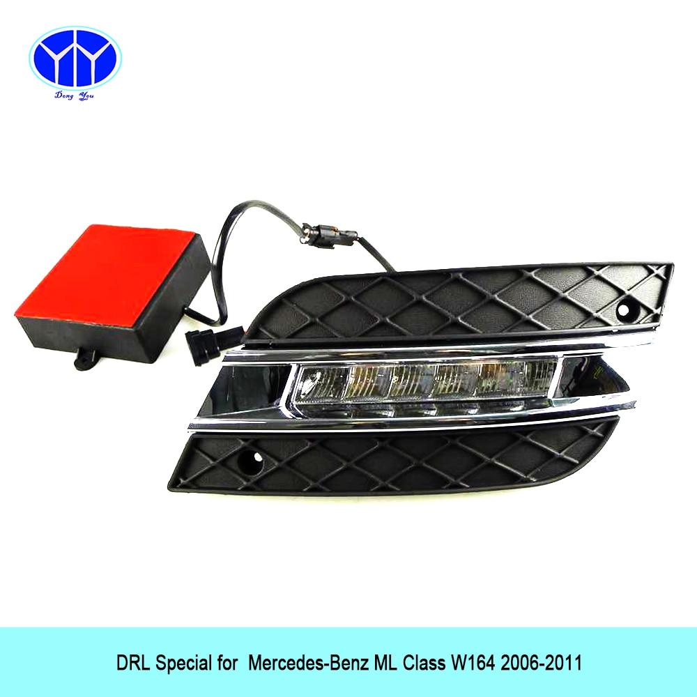 Car DRL Kit for Mercedes-Benz ML GL320 350 420 450 W164 LED Daytime Running Light super bright hot sell