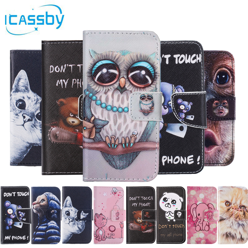 sFor Coque Samsung Galaxy S5 Case Cute Cat Leather Flip Wallet Phone Cases For  Samsung S5 Neo S5