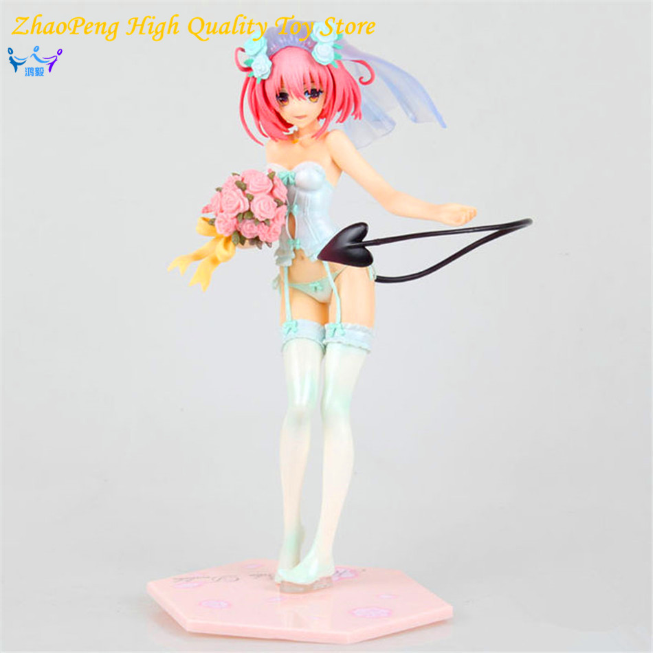 Japan Sexy Figure Anime MaxFactory MF TO LOVE RU Momo Belia Deviluke in Wedding Dress Doll 25CM PVC Action Figure Toys FB183 japan sexy figure anime maxfactory mf to love ru momo belia deviluke in wedding dress doll 25cm pvc action figure toys fb183
