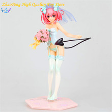Japan Sexy Figure Anime MaxFactory MF TO LOVE RU Momo Belia Deviluke in Wedding Dress Doll 25CM PVC Action Figure Toys FB183