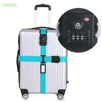 7a9f9fa1be9a TSA замок безопасности чемодан ремень кросс-цифры пароль Adjustale упаковка  Ремень багажный ремень для путешествий