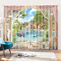 170*200cm Decoration window curtains for living room bedroom kitchen 3D curtains and blackout curtains