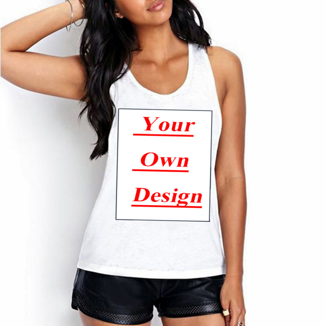 709693ef Unique Customized Women's Tanks Print Your Own Design Casual Tops girl tees  animal cartoon lovers celebrity birthday party