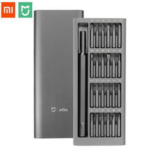 Xiaomi Mijia Wiha 24 in 1 Precision Screw Driver Kit Magnetic Bits Xiaomi Home Kit DIY Repair Tools with Alluminum Box(China)