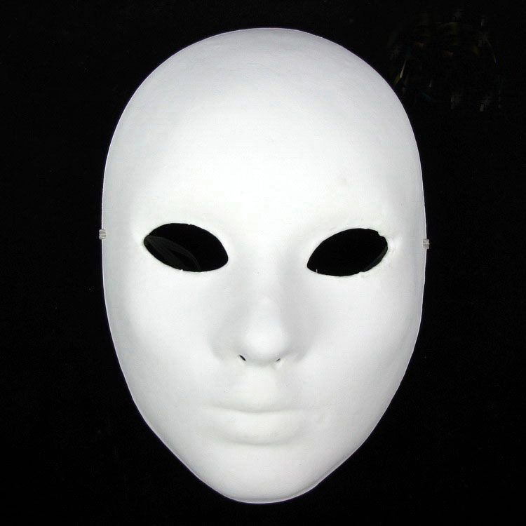 Hand Painting DIY Plain White Masks Women Men Thicken