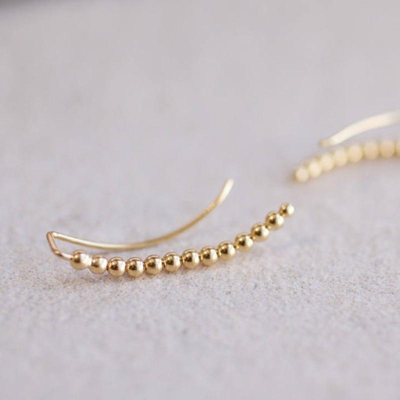 Gold Filled Piercing Ear Cuff Clip Earrings Handmad Gold Wrap Oorbellen Minimalist Best Friend Gift Brincos Earrings For Women