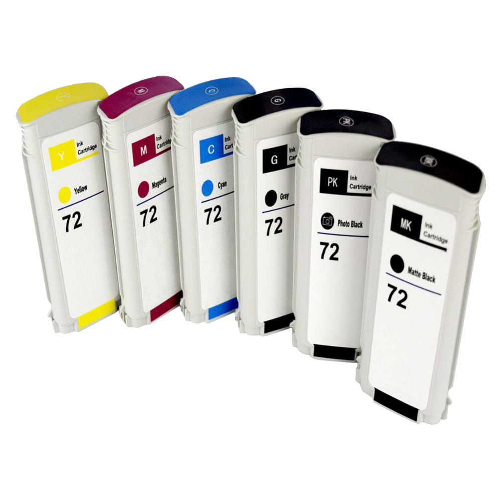 1set 72 Compatible ink cartridge for HP72 Designjet T1100/2300/T610/ T620/T770/T790/T1120/T1200/ t1300/T2300 use permanently free shipping for hp t610 t770 t790 t1300 t2300 t1120 t1200 t1100 cartridge chip decoder