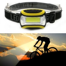Mini 3 Modes Waterproof COB LED Flashlight outdoors Headlight Headlamp head light lamp Torch Lanterna with Headband AAA
