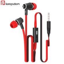 Orijinal Marka Kulaklık Kulaklıklar En İyi Kalite Ile iphone Samsung Için MIC 3.5 MM Jack Stereo Bas Cep Telefonu MP3 MP4 dizüst...