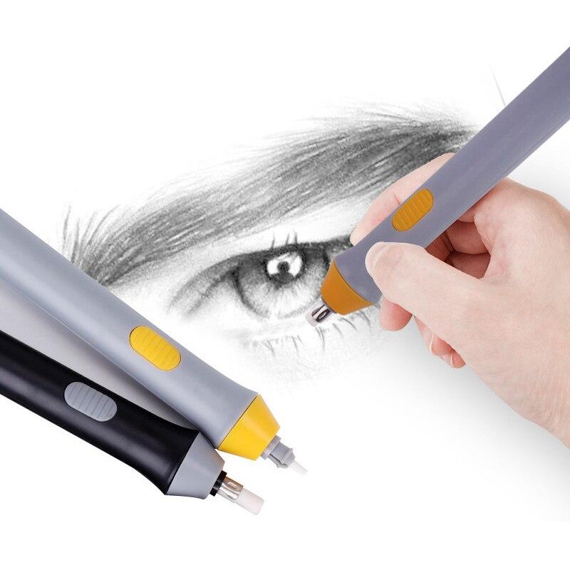 купить Electric Eraser Uses Battery School Sketch Eraser Kids Drawing Automatic Rotation Pencil Rubber School Supplies по цене 322.31 рублей