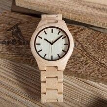 BOBO BIRD Top Brand Watch Men Wooden Timepieces Maple Wood Japan Movement Quartz Watches Wood Gift Box