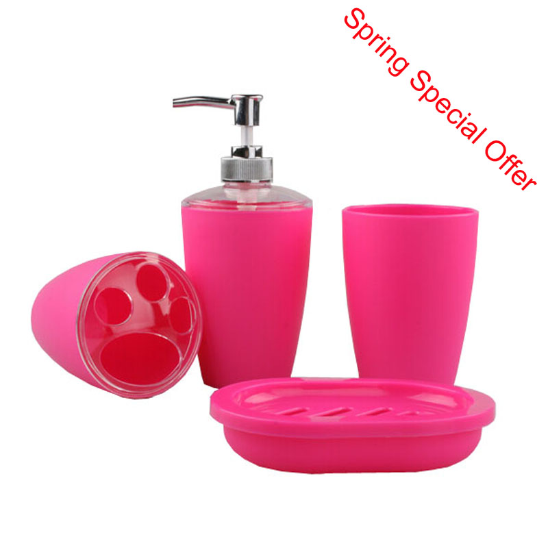 Fashion Frosted Plastic Bathroom Accessory Set Plastic ...