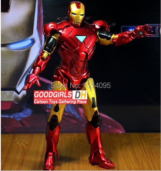 20cm Marvel Iron Man 3 Action Figure Superhero Iron Man Tonny Mark 42 PVC Figure Toy IM001 marvel iron man mark 43 pvc action figure collectible model toy 7 18cm kt027