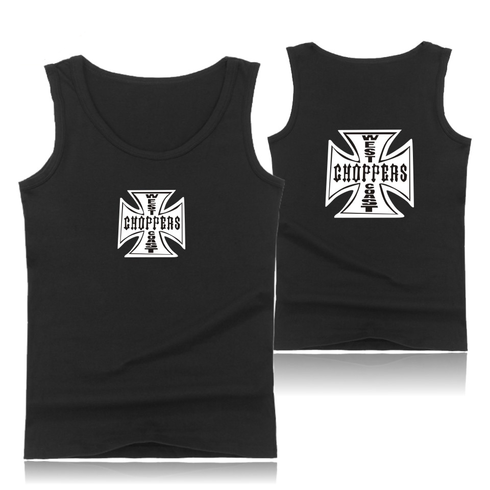 Fast & Furious 8 West Coast Choppers Fitness   Tank     Tops   Plus Size Summer Vest Bodybuilding Sleeveless Shirt Cotton Gym   Tank     Top