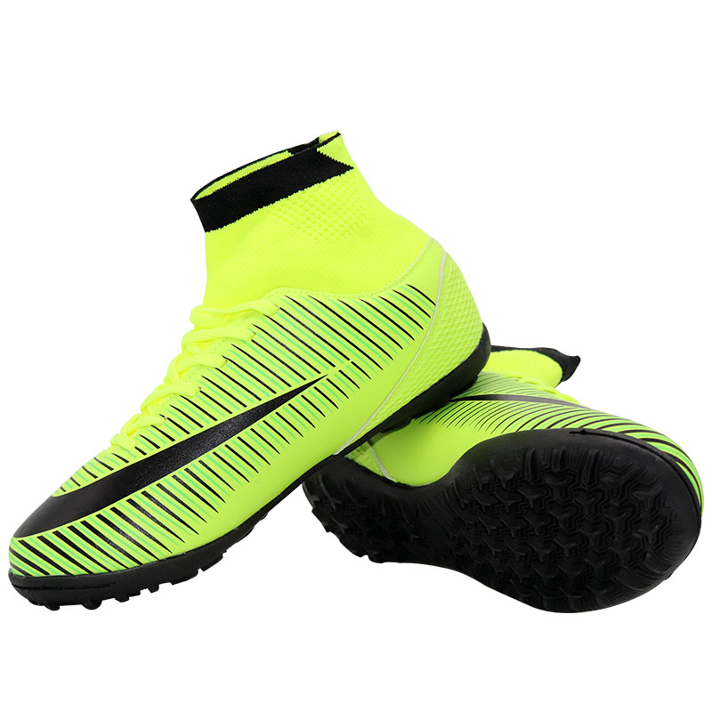 גברים של נעלי ספורט נעלי כדורגל דשא מקורה futsal כדורגל מקורית גבוהה קרסול מגפי כדורגל סוליות מגפי ילדי נשים