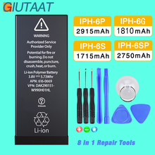 цена на Giutaat Battery for Apple iphone 6 6G 6S Plus Mobile Phone Lithium Polymer Batteries for iPhone 6 Plus Free Tools Kit