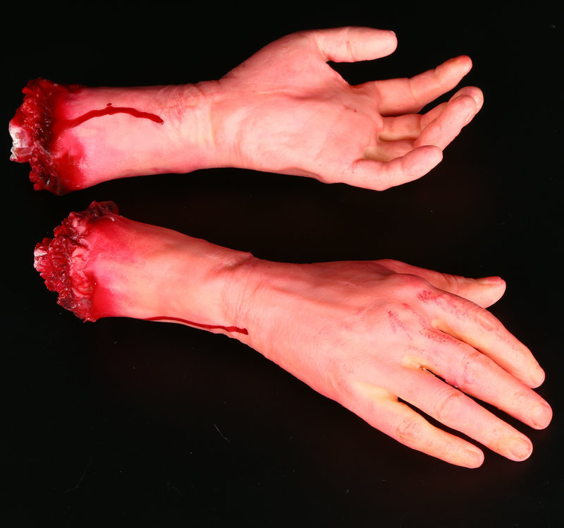 Human Arm Hand Bloody Dead Body Parts Haunted House Halloween Prop Right AR Toy Drop Shipping