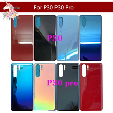 10pcs/lot For HUAWEI P30 ELE-L09 ELE-L29 P30 Pro VOG L04 Back Battery Cover Glass Panel Housing Cover Battery Housing case