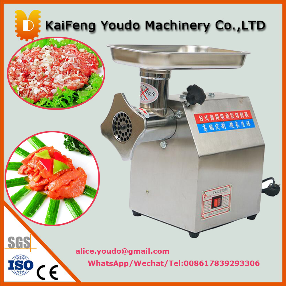 UDJR-12 stainless steel electric meat grinder machine / electric meat grinder price/meat mixer grinder 18 free ship 120kg hour 220v electric ce commercial meat grinder meat mincer stainless steel electric meat grinder machine