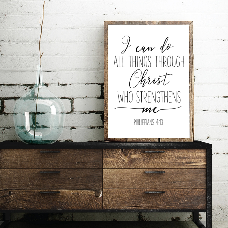 Christian Gifts Canvas Art Poster Home Decor