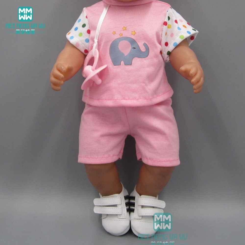 Baby clothes for doll fit 43 cm toy new born dolls accessories Short-sleeved T-shirt shorts