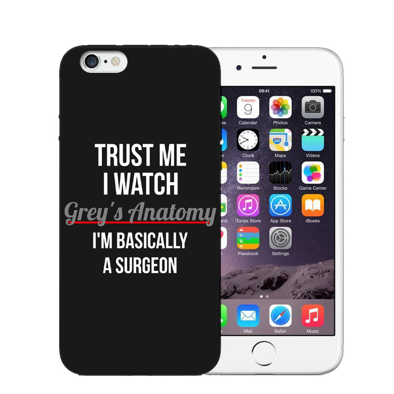 wholesale dealer c88f9 0a8d0 Soft Silicone Phone Iphone X 8 7 7Plus 6 6S Plus SE 5S Greys Anatomy Quotes  Printed Rubber Back Cover Shell Coque Capa