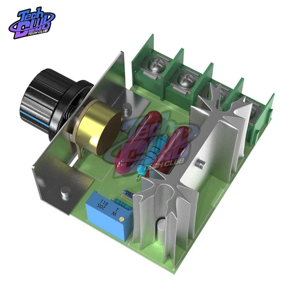 Régulateur de tension ca 220V 2000W SCR gradateurs régulateur de vitesse du moteur Thermostat régulateur de tension électronique Module