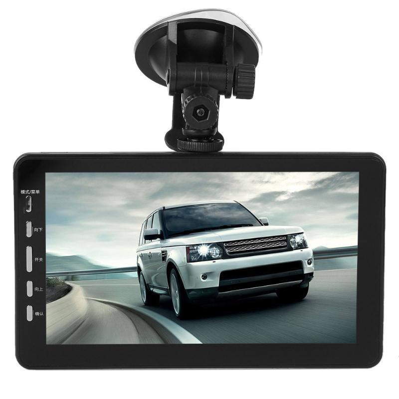 все цены на VODOOL 7inch TFT 1080P Dual Lens Car Truck DVR Camera 170 Degree Auto Night Vision Motion Detection Suction Cup Dash Camera онлайн