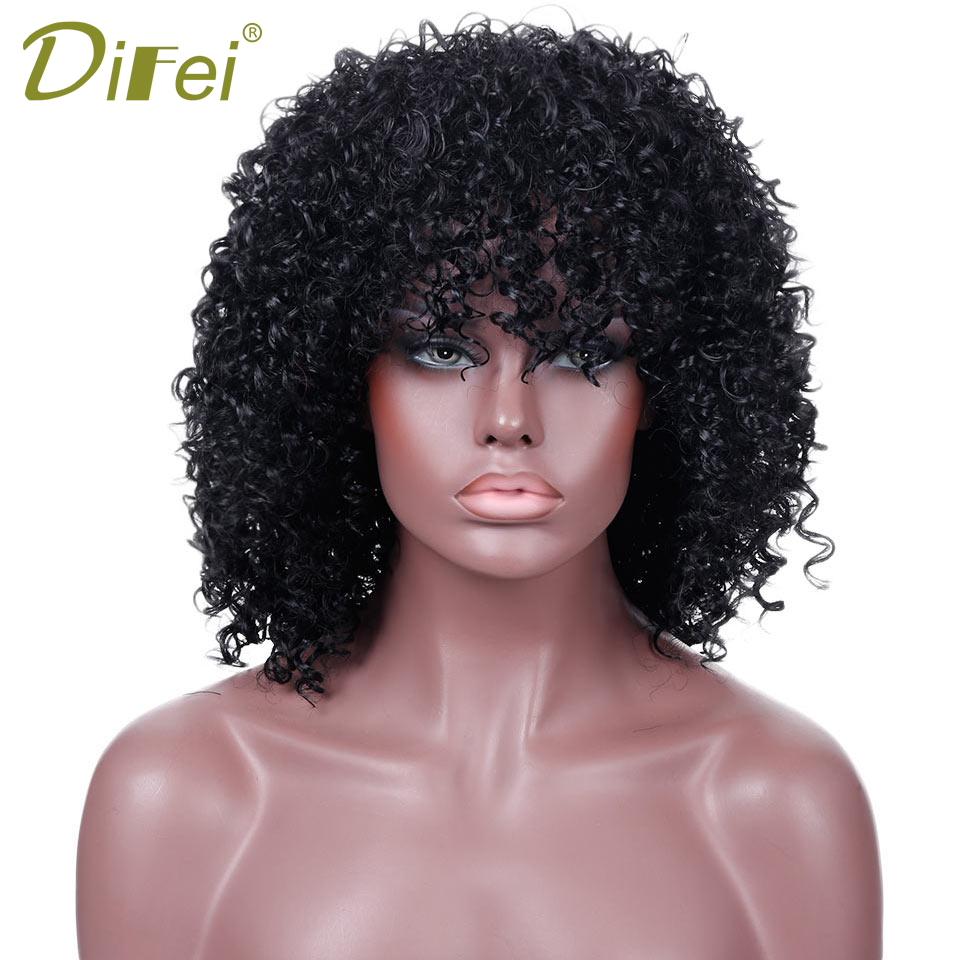 Long Afro Curly Wig Synthetic Hair Black African Wigs For Black Women 16 Adult Costume Wig Heat Resistant Fiber Oem Hphr-020 Synthetic Wigs
