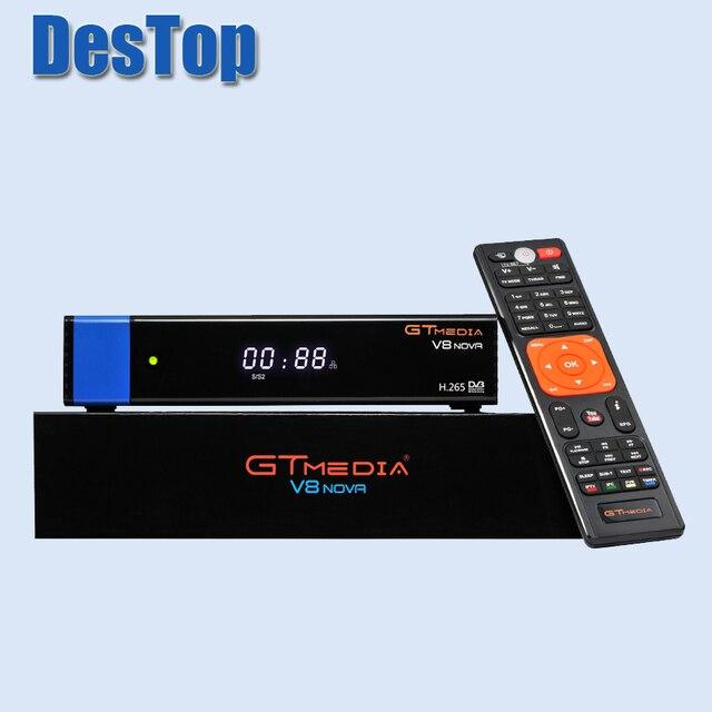 GTmedia V8 Nova Blue DVB S2 HD Satellite receiver Support H.265 power vu biss built WiFi set top box