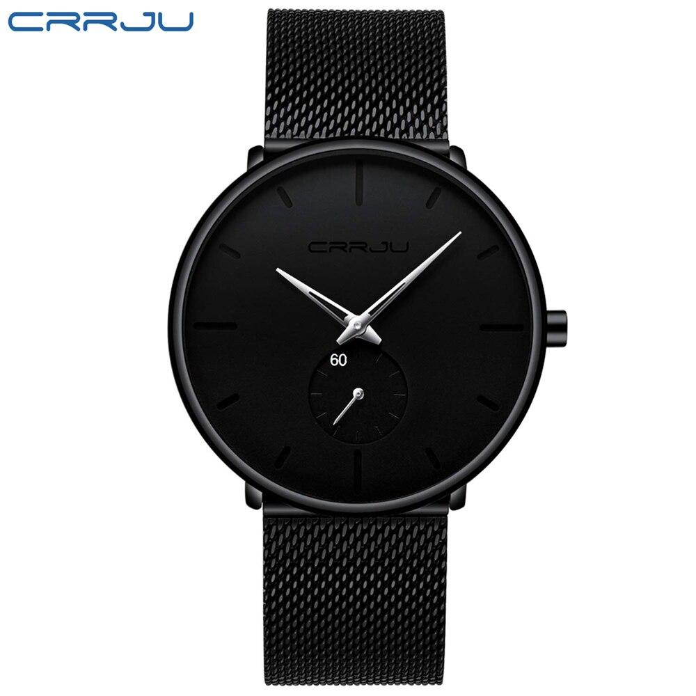 Image 4 - CRRJU mody przypadkowi męskie zegarki wodoodporna armia wojskowy Sport analogowy zegarek kwarcowy zegarek na rękę dla mężczyzn zegar na prezent Relogio MasculinoZegarki kwarcowe   -