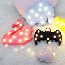Lovely Cloud Horse Icecream LED 3D Light Night Light Cute Kids Gift Toy Baby Children Bedroom Decoration Lamp Indoor Lighting(China)