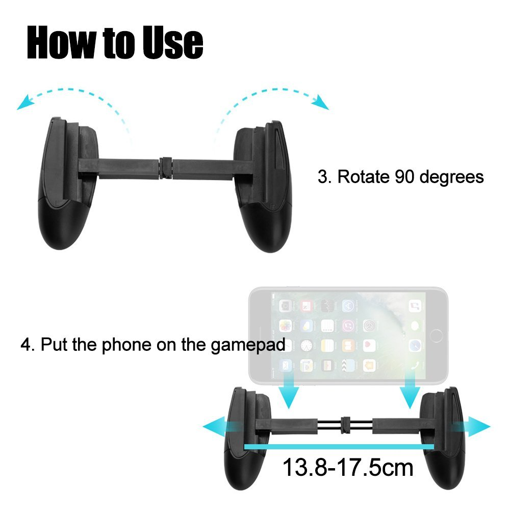 Wrumava Mobile phone and controller gun game trigger button for PUBG / knives / survival rules IOS Andriod phone Pakistan