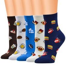 Дизайн, женские милые Носки с рисунком курицы и пива, удобные носки без пятки для девочек, calcetines mujer divertido