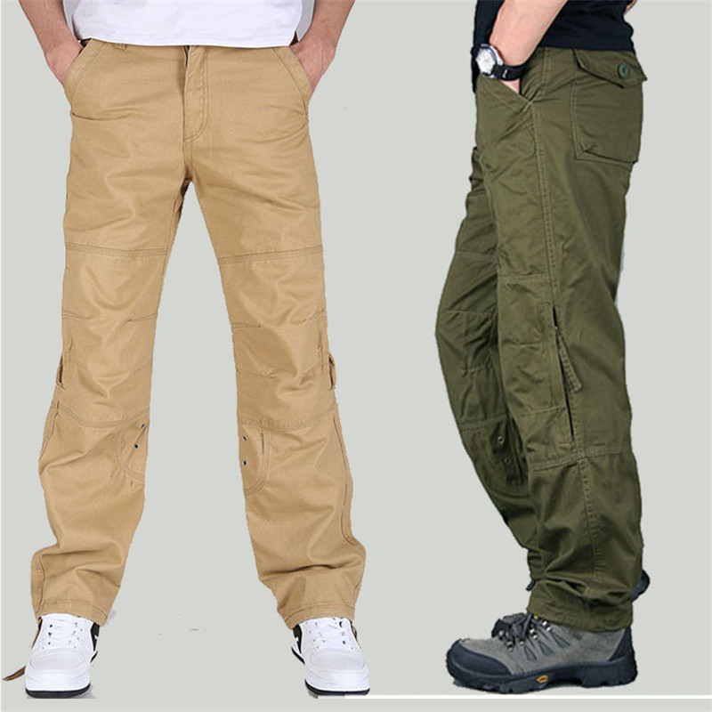New Spring Autumn Men's Cargo Pants Mens Casual Pants Military Overall for Men Outdoors Long Trousers