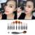 11 unids Pro Maquillaje Cepillo de Cejas cepillo de Dientes Oval Crema En Polvo Fundación Brush Set