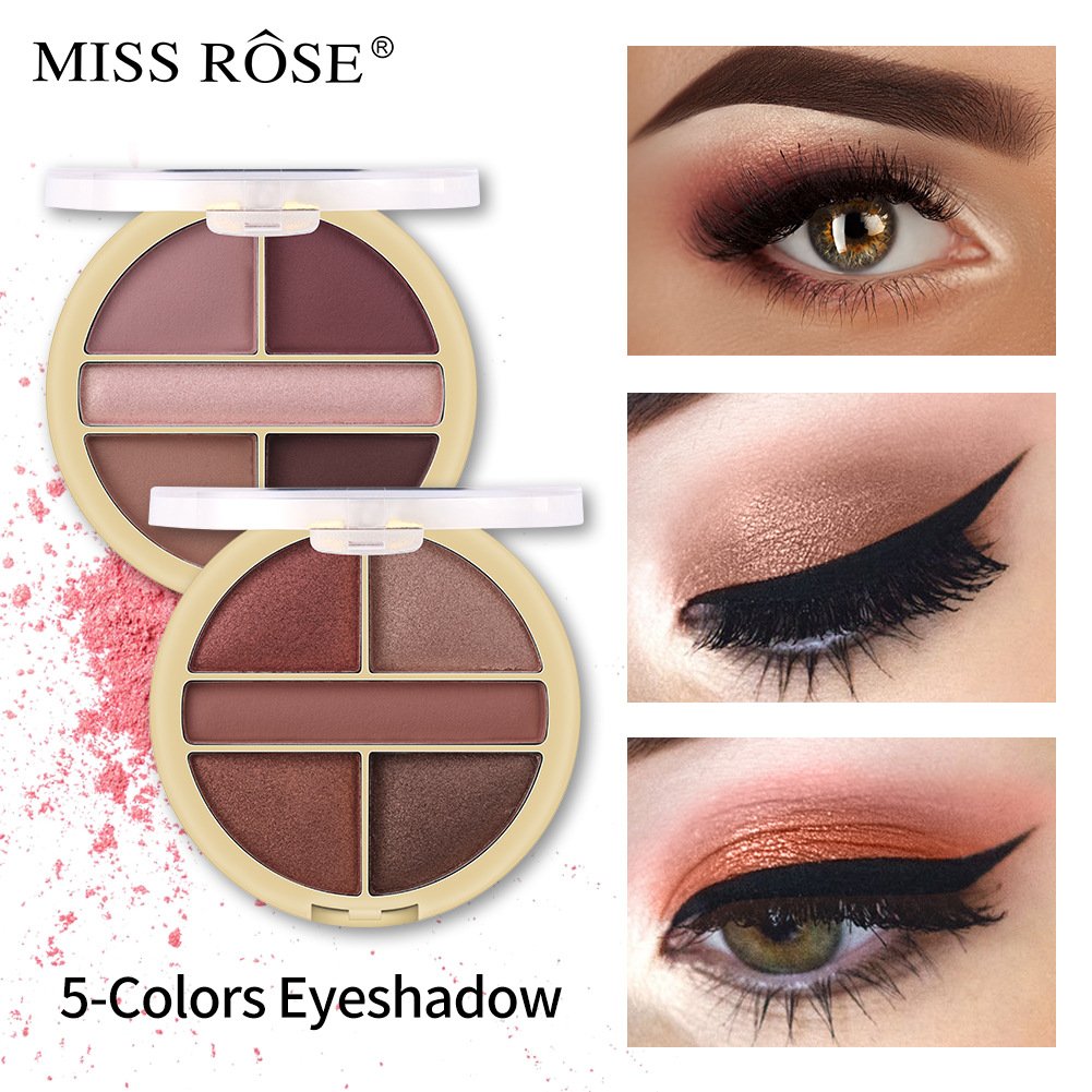 2019 NEW Professional Pearl gloss matte 5 color small plate eye shadow Powder Pigment Cosmetic Waterproof Matte Makeup Eyeshadow