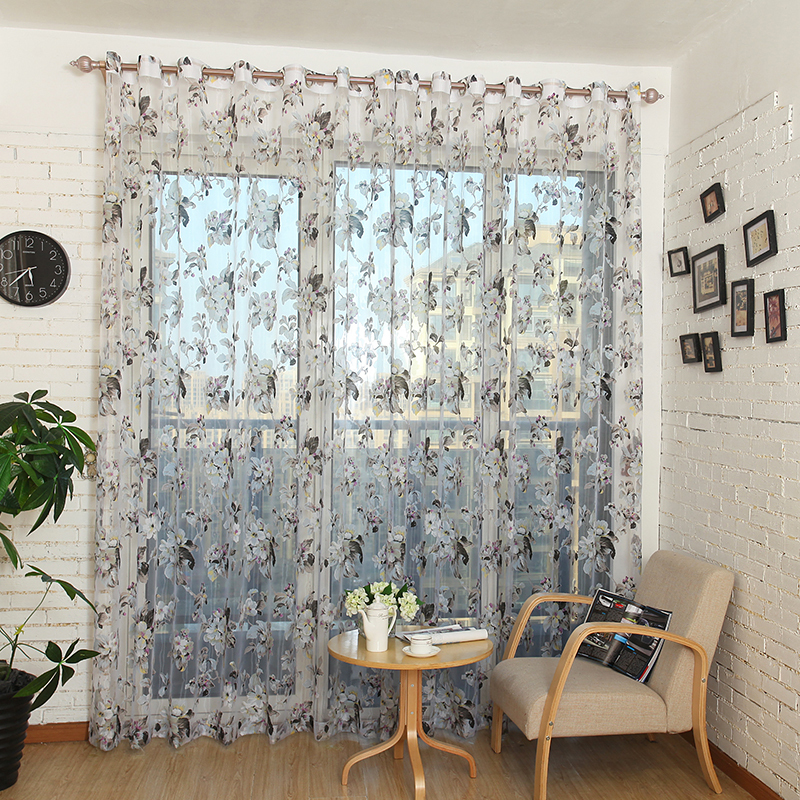 New Sale Floral Tulle In Sheer Curtains For Living