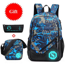 Непромокаемая оксфордская ткань для мальчиков школьные сумки рюкзак для подростков пенал синяя книга сумка мальчик на одно плечо школьный рюкзак Mochila