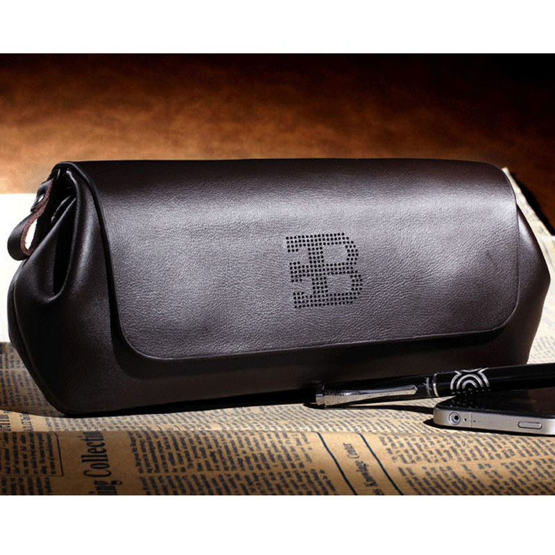 designer purses clearance 6omo  Free shipping New brand genuine men's leather Clutch Wallet Retro fashion  boutique business bags Clearance Price
