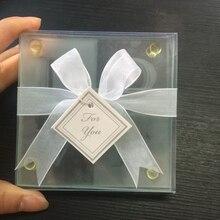 115 компл./лот)+ любовь Стекло Coaster подарков Свадебный комплект с бесплатную персональную Tag-(2 шт./компл