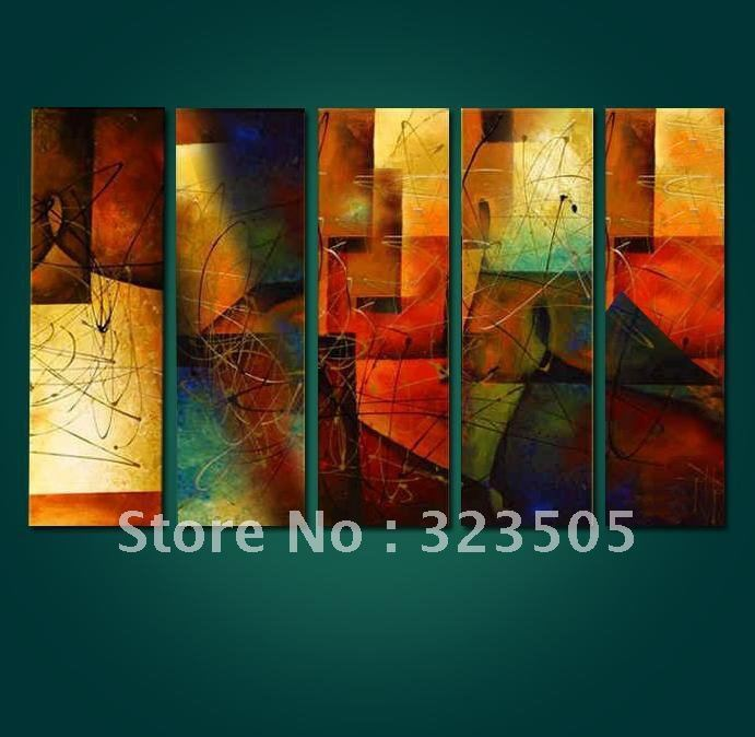 buy 5 piece canvas wall art large panels abstract oil painting set on canvas unframed free shipping to usa russia italy french uk from