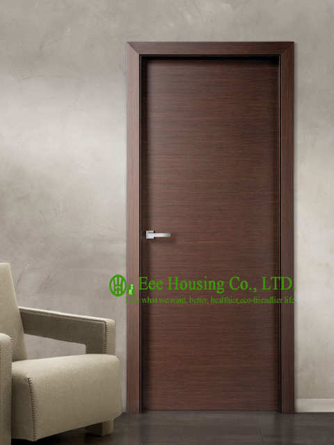 US $475.0 |Modern Flush Wood Door For Sale, Walnut Veneer Interior Bedroom  Door Design For Condos-in Doors from Home Improvement on AliExpress