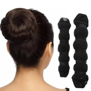 Image 2 - 2 шт., женские Инструменты для укладки волос, волшебная губка, булочка, кольцо пончик, формирователь пены, инструмент для девочек, сделай сам, стиль волос