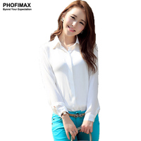 2014 New Metal Protect Collar Long Sleeved Female Korean Lace Chiffon Blouses S M L Black