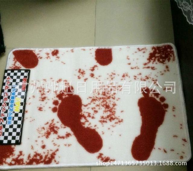 Un Bagno di Sangue Tappetino Da Bagno di Sangue Impronte antiscivolo Mat Creativo Sangue Tappeto Bagno Prodotti