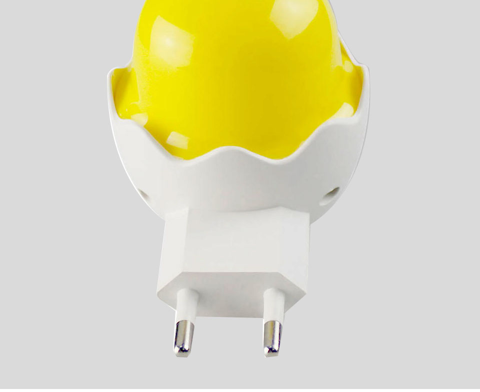 Lovely EUUS Plug Yellow Duck LED Night Light Lamp Wall Socket Light (13)