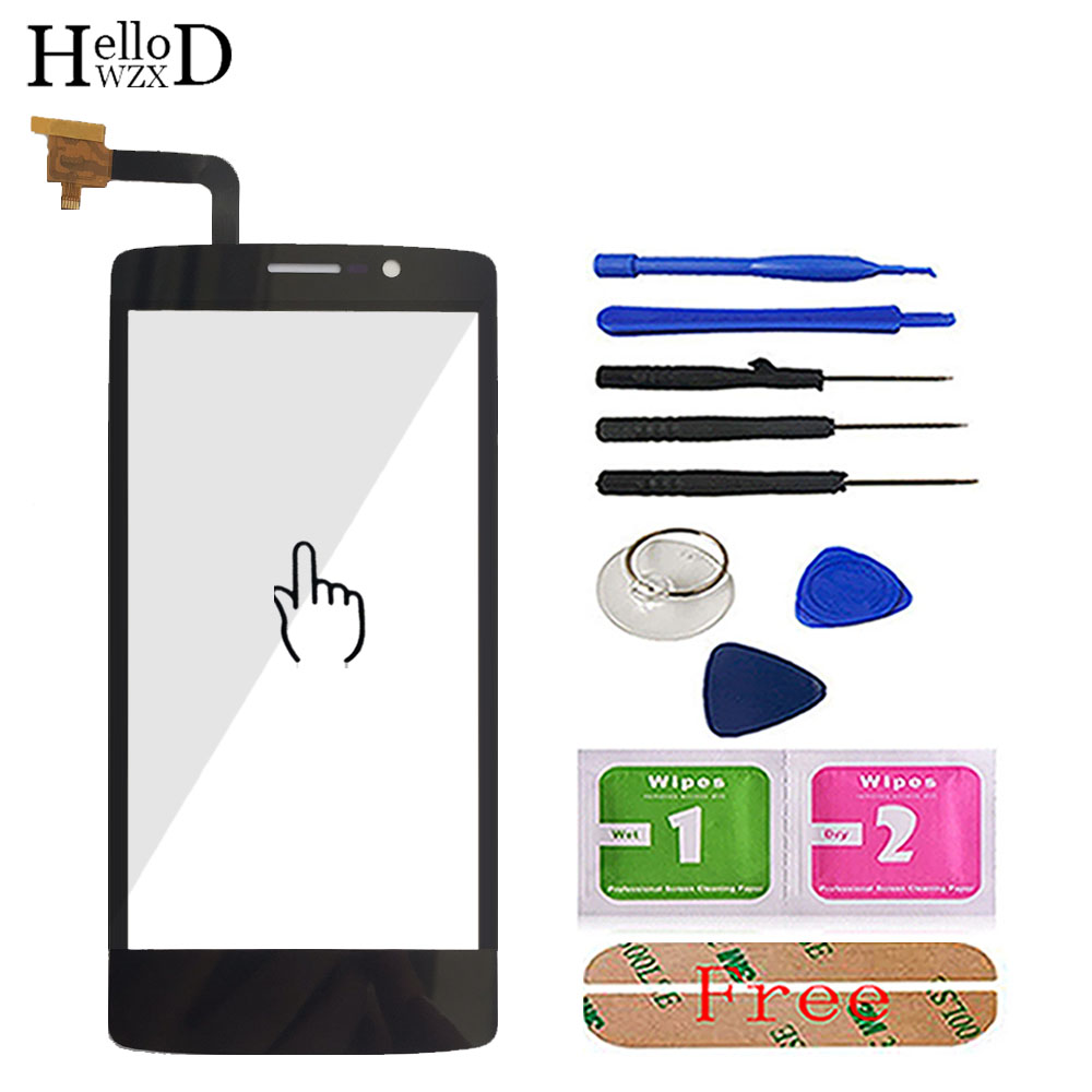 Mobile Touch Screen For FLY IQ4504 Evo Energy 5 IQ 4504 Front Touch Glass Digitizer Panel Repair Lens Sensor Tools Adhesive